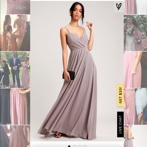 Lulus All About the Love Grey Bridesmaid Dress